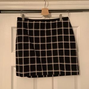 Madewell Black and White Plaid Skirt. Size 8